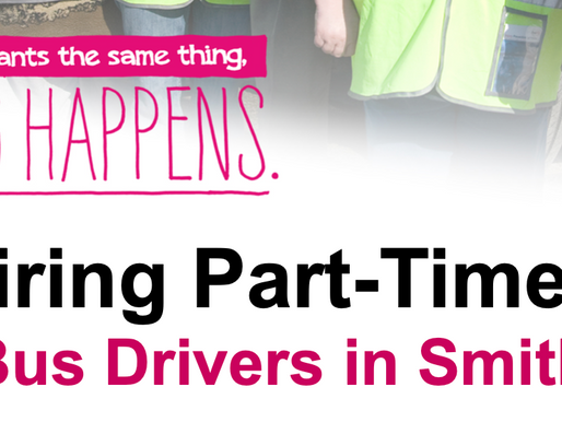 Now Hiring Part-Time Bus Drivers