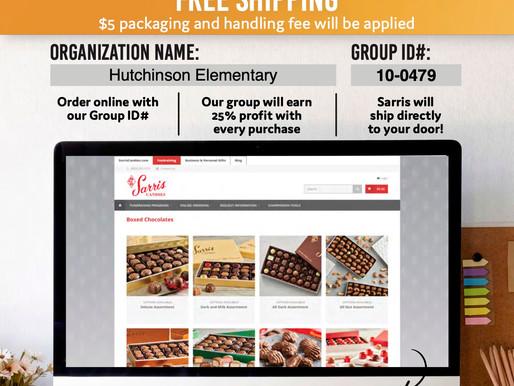 Hutchinson Elementary Sarris Candies Sale Info