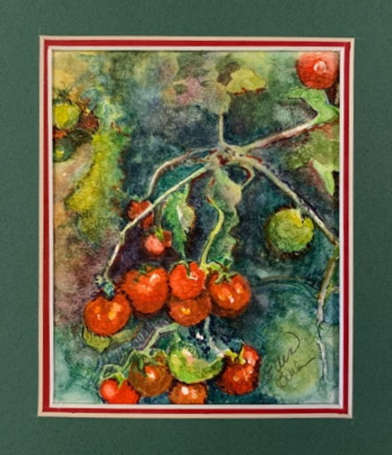 """Tomayto Tomahto"" painted by retired Pentucket Arts educator Ellen Burke Hart"