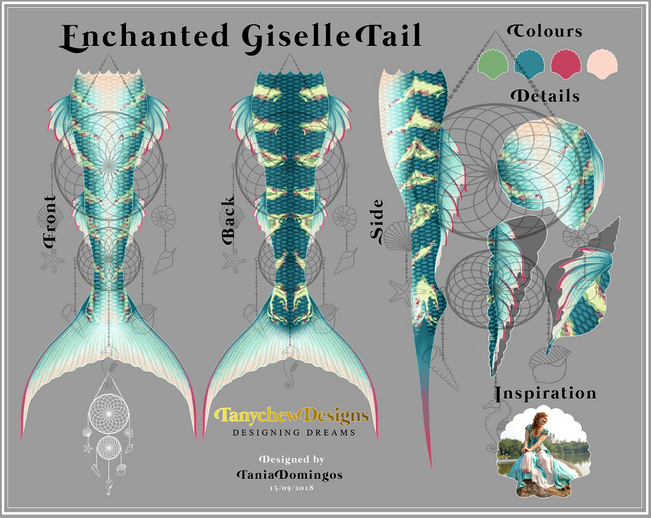 Mermaid Tail Design Template - Enchanted