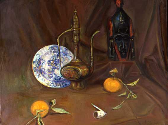 Still-life With African Mask