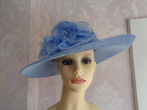 e1827f8b05 Vivien Sheriff Hat in Cornflower Blue Powder Blue