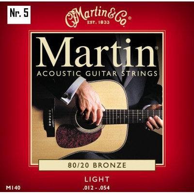 NR. 5 MUTE DI CORDE MARTIN PER CHITARRA ACUSTICA M-140 (0.12-0.54)