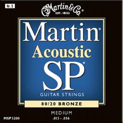NR. 5 MUTE DI CORDE MARTIN PER CHITARRA ACUSTICA MSP 3200 (0.13-0.56)