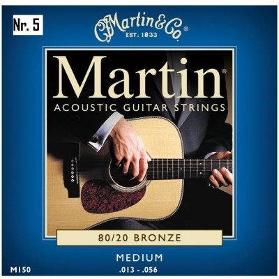NR. 5 MUTE DI CORDE MARTIN PER CHITARRA ACUSTICA M150 (0.13-0.56)