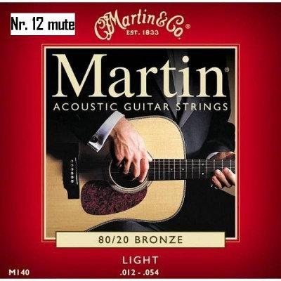 NR. 12 MUTE DI CORDE MARTIN PER CHITARRA ACUSTICA M-140 (0.12-0.54)