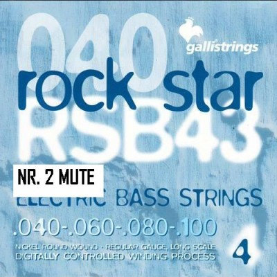 NR.2 MUTE CORDE GALLI RSB 43 ROCK STAR BASS (0.40-100)