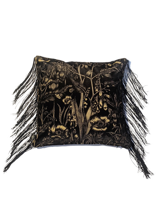Alnwick Velvet Fringed Cushion