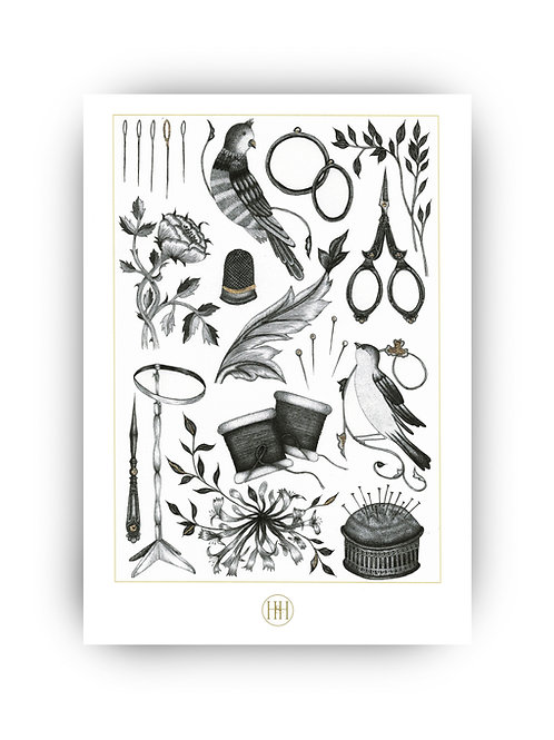 'May' Hand-Finished Fine Art Print