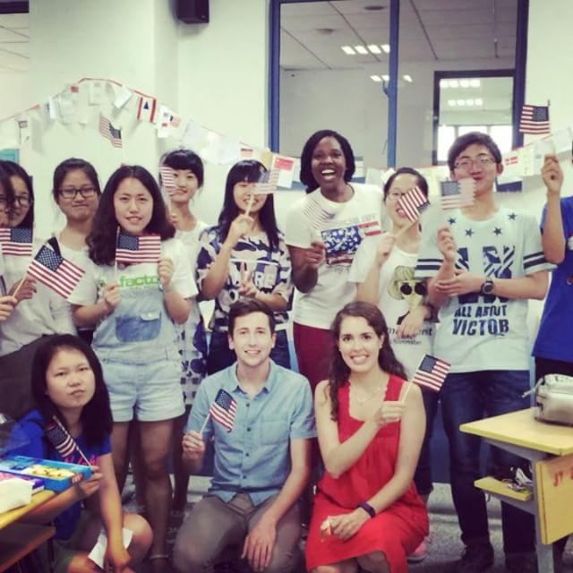 Happy 4th from room 207! #SoutheastUniversity #EnglishTeacher #SEU #FirstPBandJellyForMost #NanjingChina #WorldTraveler #WorkPerk
