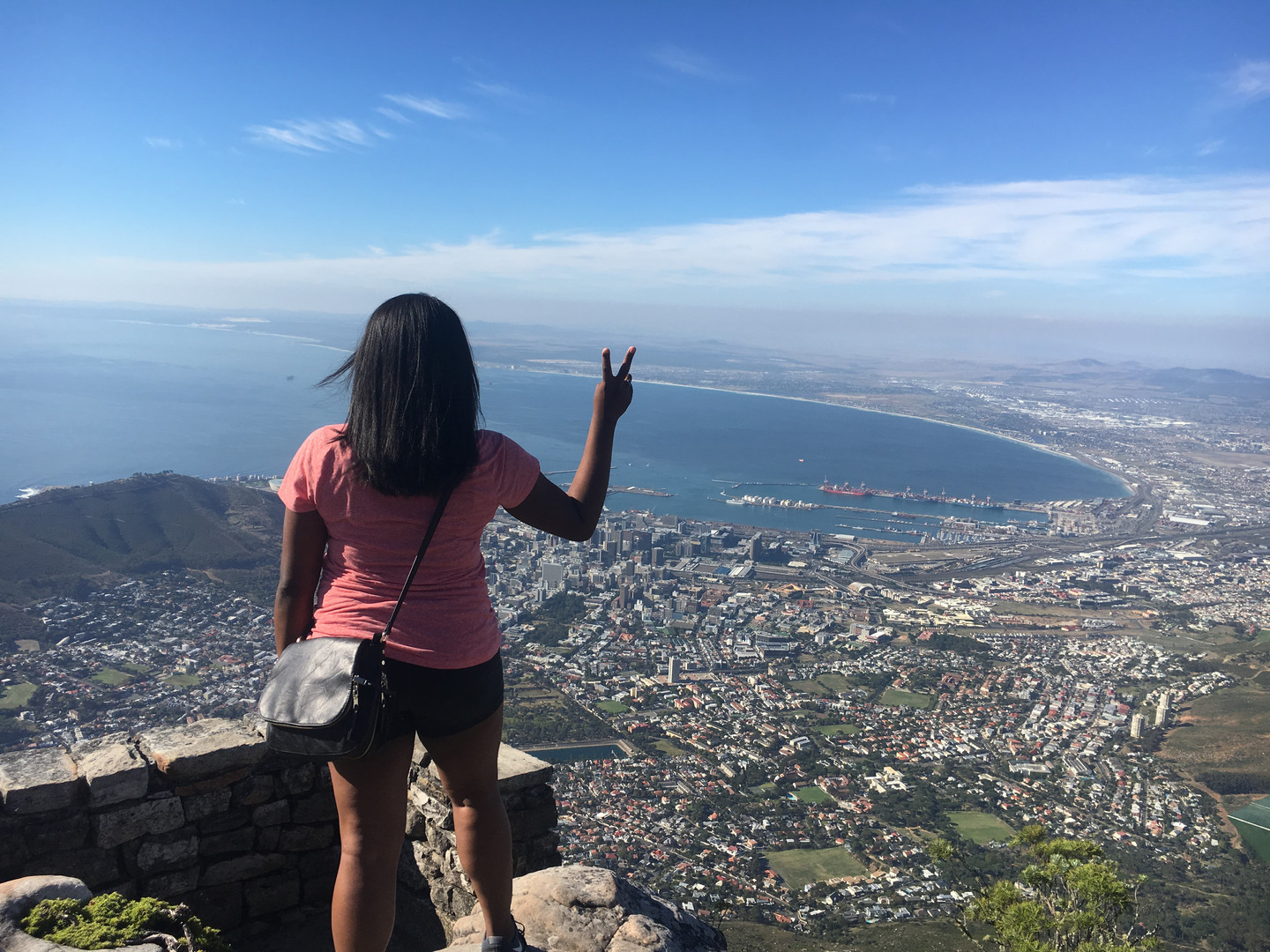 On top of Table Mountian in South Africa!