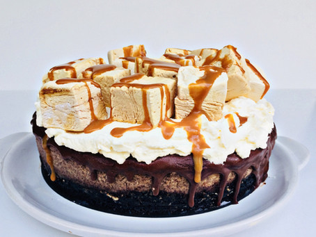 Salted Caramel Mallow Mousse Cake