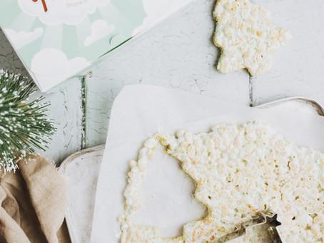 Christmas Tree Rice Crispy Squares