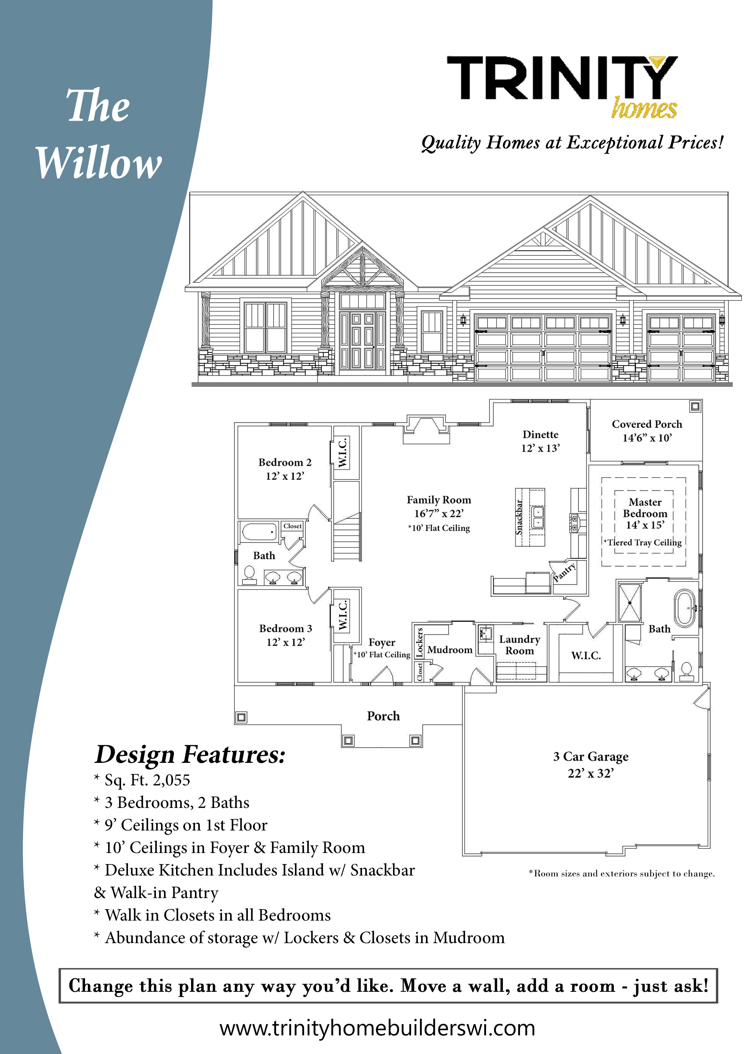 The Willow Floor Plan Trinity Home Builders
