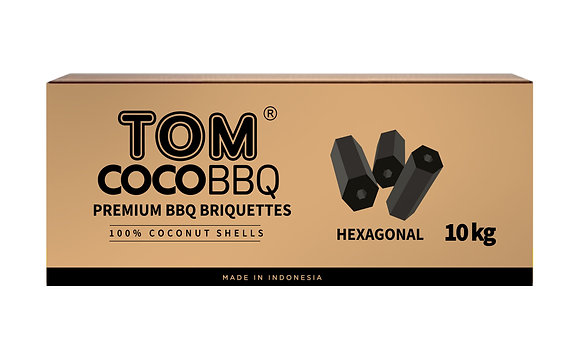 TOM CocoBBQ Grill-Briketts Hexagonal