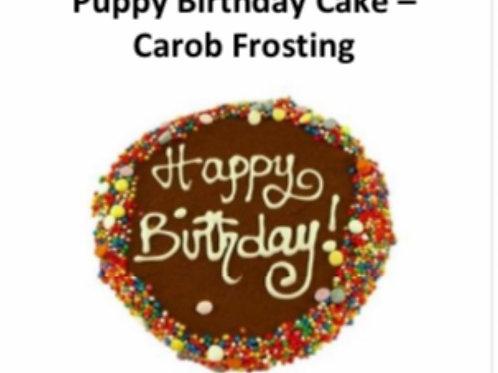 Puppy Birthday Cake: Carob Frosted