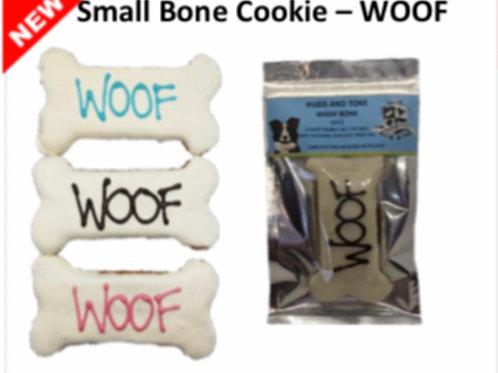 Small Bone Cookie Dog Treat: WOOF