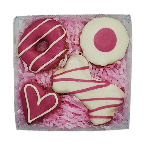 4PK Gift Box Cookies: Pink