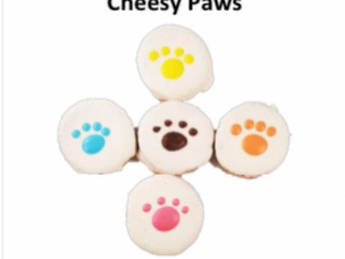4PK Cheesy Paws: Dog Cookie Treats
