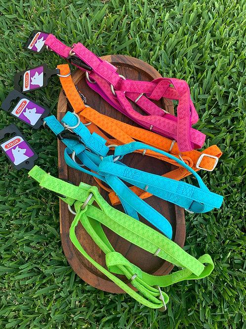 "25MM: Zolux ""Mac Leather"" BRIGHT Dog Harness"