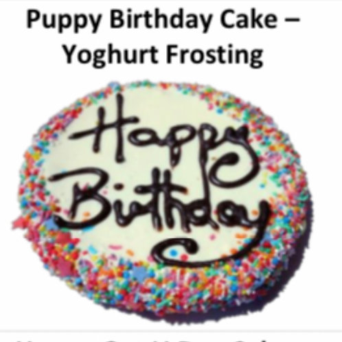 Puppy Birthday Cake: Yoghurt Frosted