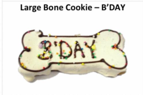Large Baked Dog Bone Cookie: B'DAY