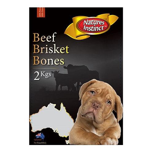 2kg Natures Instinct Beef Brisket Pieces (FROZEN)