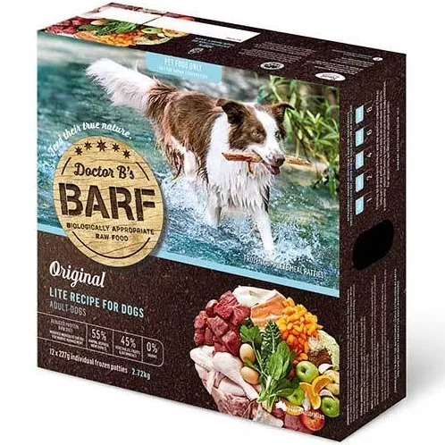 Dr B Barf Dog Food LITE RECIPE 2.7kg (12 x 227g) (FROZEN)