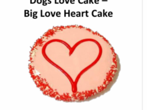 Dogs Big Love Heart Cake