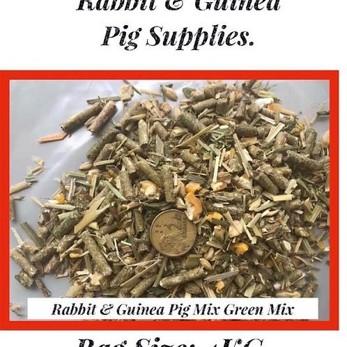 Rabbit & Guinea Pig: Green Mix.