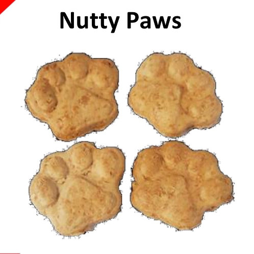 100g Dog Treats Grain Free: Nutty Nibble Paws