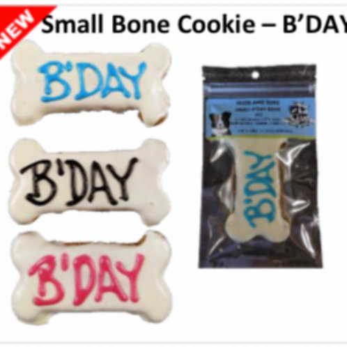 Small Bone Cookie Dog Treat: B'DAY