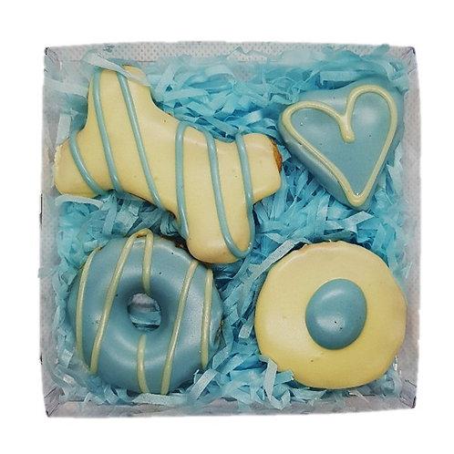 4PK Gift Box Cookies: Blue