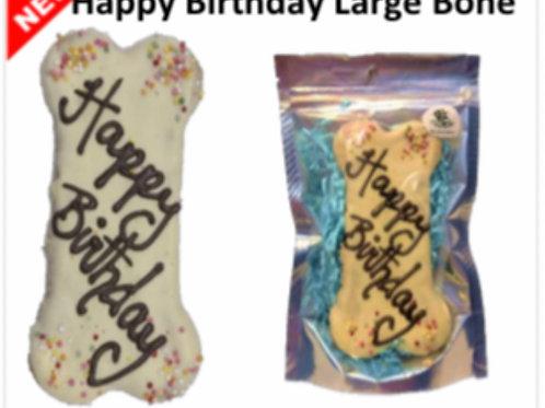 Happy Birthday Bone Cookie Dog Treat
