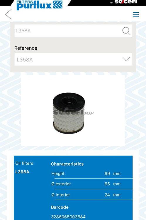 حشو فلتر زيت  (L358A) بيجو- ستروين - ميني كوبر-   purflux
