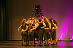 dance photos (holding things in group circle)