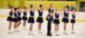 "Starcatchers Beginner 2 Synchronized Skaters performing their ""Stars"" routine for fans in Darien, CT."
