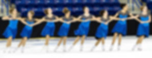 """Starcatchers Pre-juvenile Synchronized Skaters performing their """"Matilda"""" routine for synchro skating fans in Lowell, MA."""
