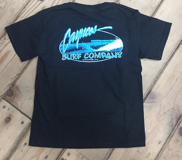 Cayucos Surf Company Kids Old Pier Short Sleeve Tee
