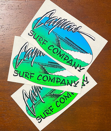 3 Pack Old Pier Stickers