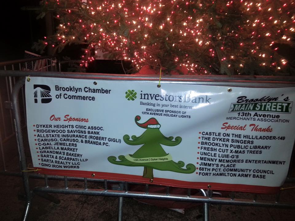 Christmas Tree Lighting on 13th Ave.