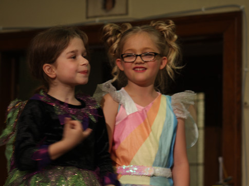 Young actors in our children's production of Jack and the Beanstock
