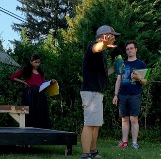 Aaron Angello directing for the Frederick Shakespeare Festival