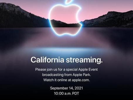 Domani  14 settembre Apple presenterà l'iPhone 13, l'Apple Watch ed i nuovi AirPods