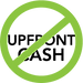 No upfront cash symbol