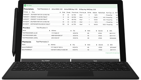 iCoreHuddle Prscription Drug Monitoring Software (PDMP)