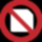 No paper prescription symbol for iCoreConnect iCoreRx electronic prescribing