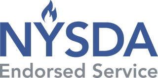 Logo for New York State Dental Association NYSDA endorsement of iCoreConnect