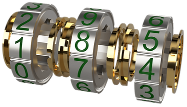 Silver and gold combination lock for iCoreConnect iCore Secure customizable secure email