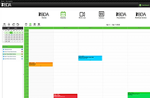 Calendar screen from iCoreConnect iCoreFlex private encrypted network